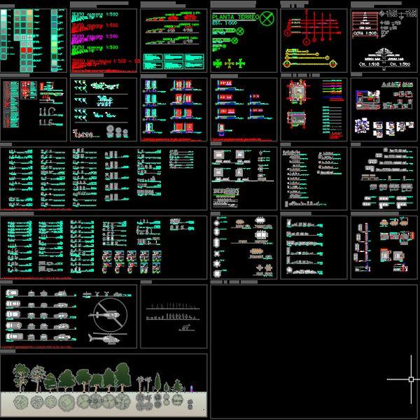 Imagem principal do produto Blocos 2D em AutoCAD para projetos arquitetônicos