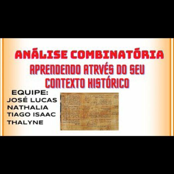 Imagem principal do produto ANÁLISE COMBINATÓRIA: APRENDENDO ATRAVÉS DE SEU CONTEXTO HISTÓRICO