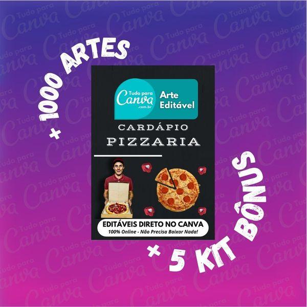 Imagem principal do produto Cardápio Pizzaria - Arte Para Canva +1000Artes+5KitsBônus