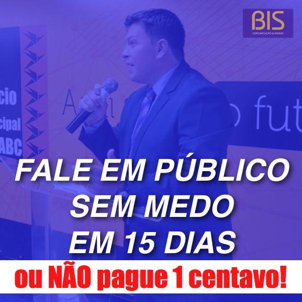 Imagem principal do produto FALE EM PÚBLICO SEM MEDO EM 15 DIAS