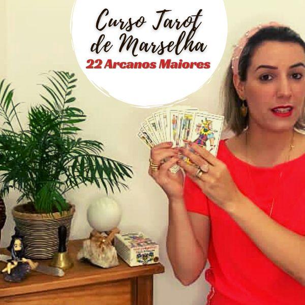 Imagem principal do produto Caminhos do Tarot ->  Curso Tarot de Marselha + Tarot Astrológico
