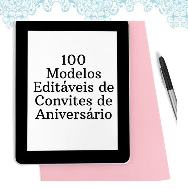 Imagem principal do produto 100 Modelos Editáveis De Convites de Aniversário