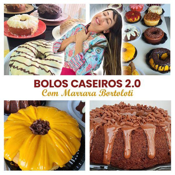 Imagem principal do produto Bolos caseiros 2.0 com Marrara Bortoloti