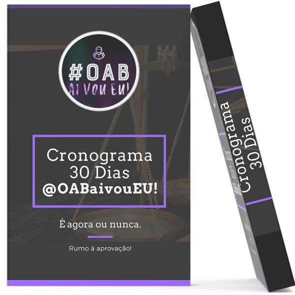 Imagem principal do produto Cronograma 30 dias @OABaivoueu!