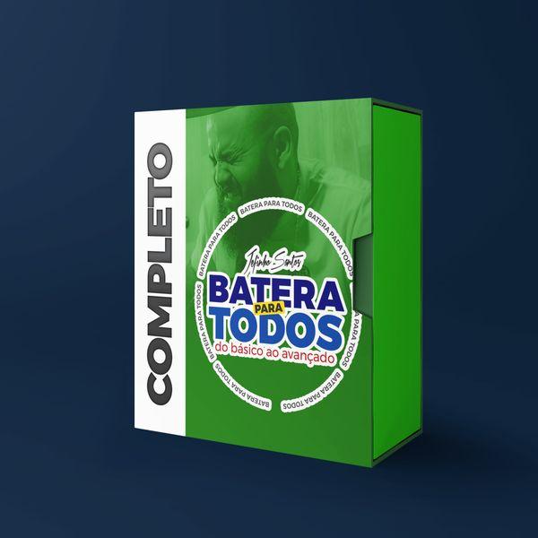 Imagem principal do produto BATERA PARA TODOS - CURSO COMPLETO BATERIA DO ZERO AO AVANÇADO