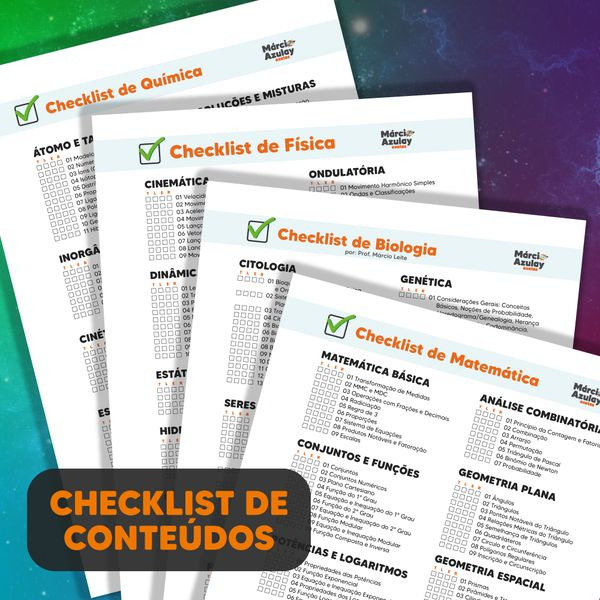 Imagem principal do produto Checklist de Ciencias da Natureza e Matemática