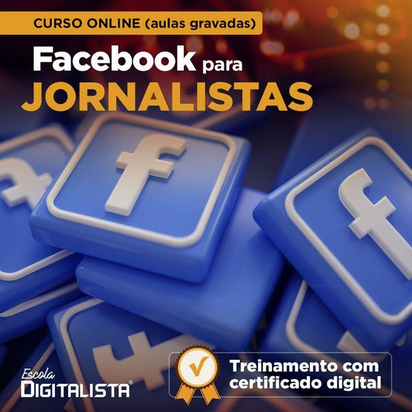 Imagem principal do produto Curso online Facebook para jornalistas