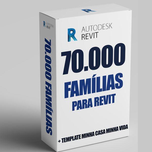 Imagem principal do produto Famílias Revit 44GB mais de 70.000 famílias