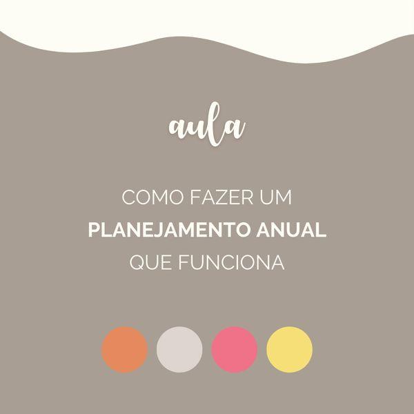 Imagem principal do produto Aula | Como fazer seu planejamento anual