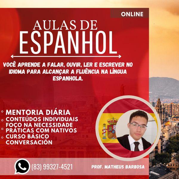 Imagem principal do produto //Aula de Espanhol//
