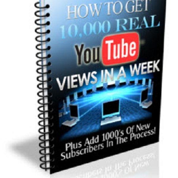 Imagem principal do produto Alcance 10 mil visualições reais no YouTube por semana!