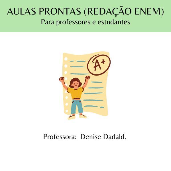 Imagem principal do produto Aulas prontas (Redação ENEM) - para professores de Língua Portuguesa e estudantes