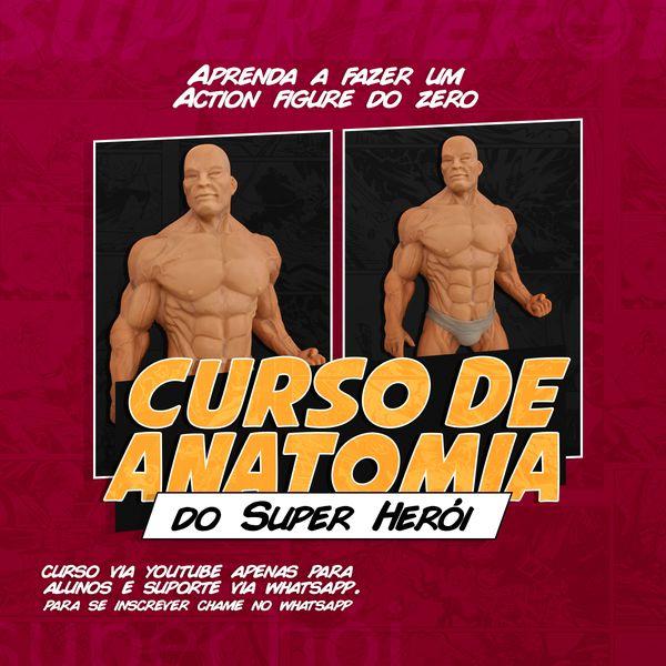 Imagem principal do produto  Assinatura - Curso  Anatomia de Super Heroi para Biscuit