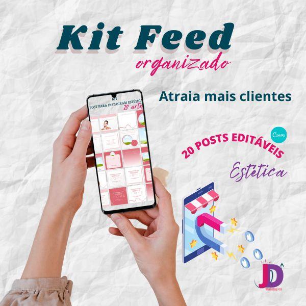 Imagem principal do produto Kit Post para Instagram Estética