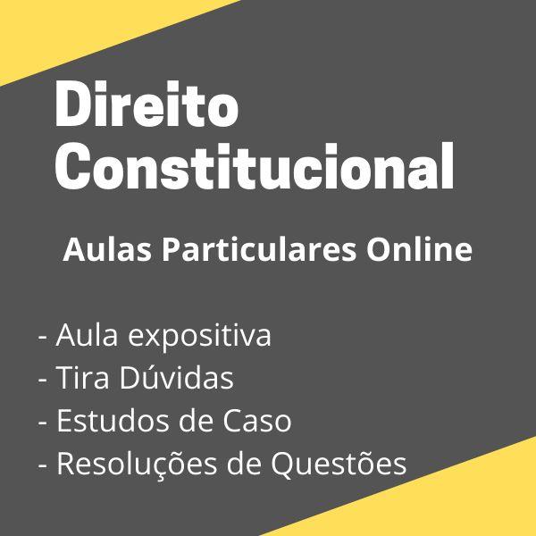 Imagem principal do produto Aulas Particulares de Direito Constitucional