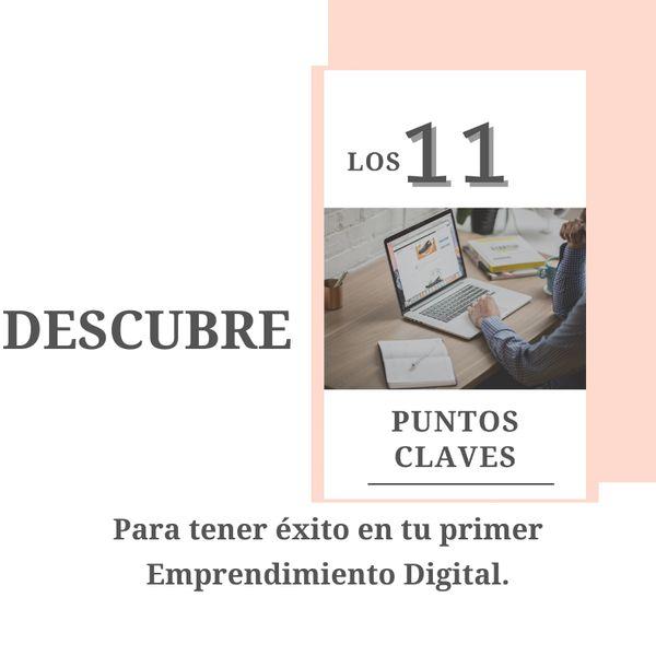 Imagem principal do produto Descubre los 11 Puntos Claves que te harán tener éxito en tu primer Negocio en Internet