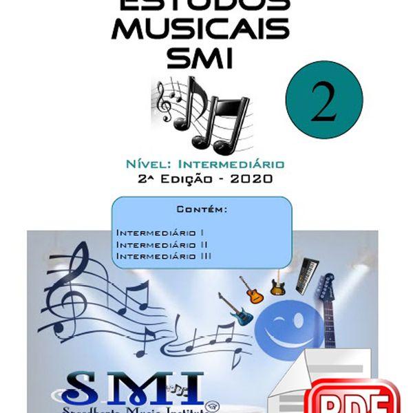 Imagem principal do produto Apostila e Método SMI 2020 de estudos musicais NÍVEL INTERMEDIÁRIO (Violão & Guitarra)