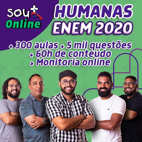 Imagem principal do produto Curso de Humanas para o Enem 2020 (Semestral)