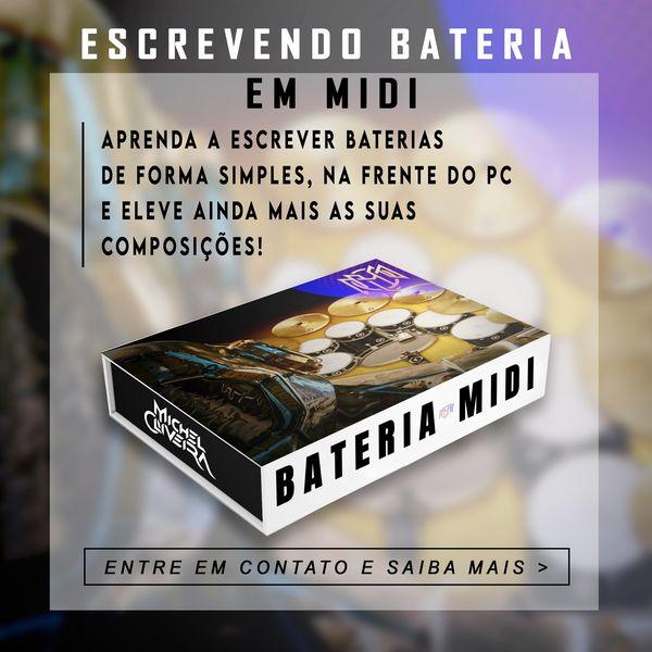 Imagem principal do produto APRENDA A ESCREVER BATERIA MIDI