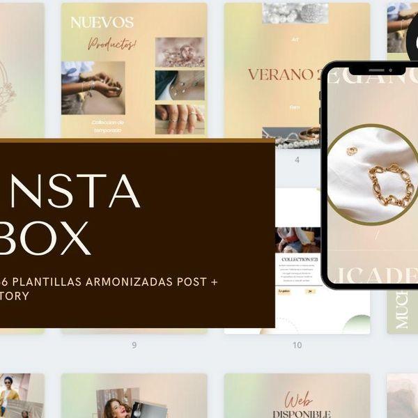 Imagem principal do produto Canva box templates