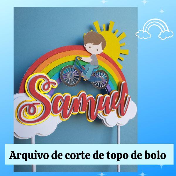 Imagem principal do produto Arquivo digital de topo de bolo Arco-íris