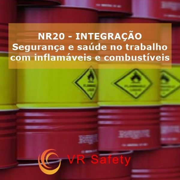 Imagem principal do produto Integração NR 20  SEG E SAÚDE NO TRABALHO COM INFLAMÁVEIS E COMBUSTÍVEIS