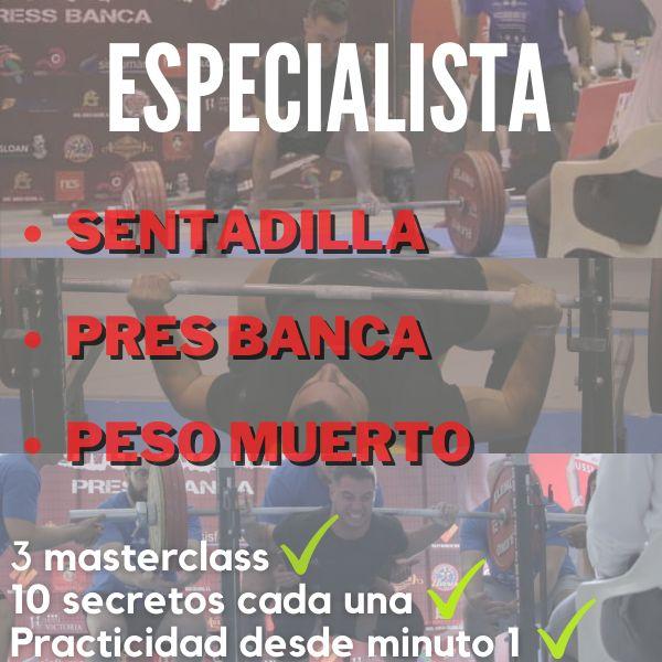 Imagem principal do produto Especialista en sentadilla, press banca y peso muerto