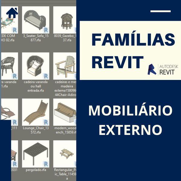 Imagem principal do produto Famílias para Revit Mobiliário Externo1.0