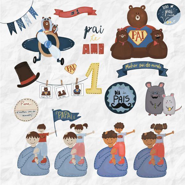 Imagem principal do produto Kit Digital - Dia dos Pais