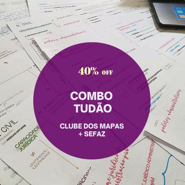 Imagem principal do produto COMBO TUDÃO 40% off - Clube dos mapas + SEFAZ