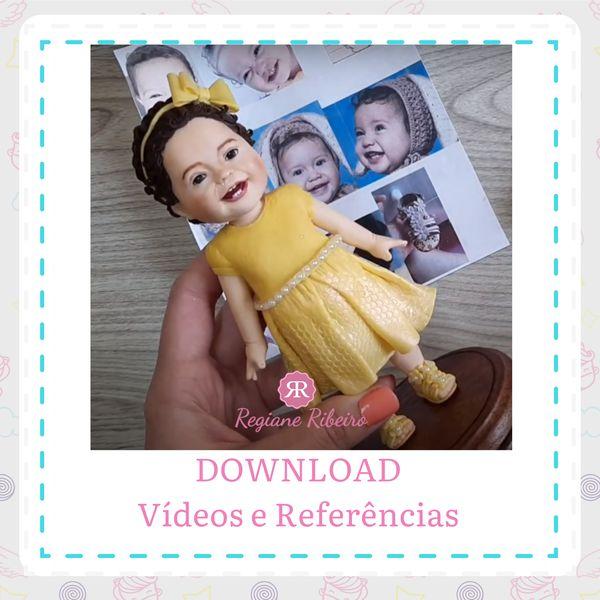 Imagem principal do produto Escultura em Biscuit - Bebê Realista
