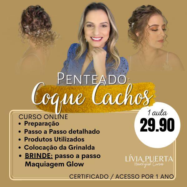 Imagem principal do produto Curso de Penteados - Coque Cacheado