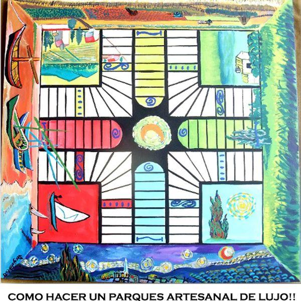 Imagem principal do produto Cómo hacer un juego de parques artesanal, de lujo!