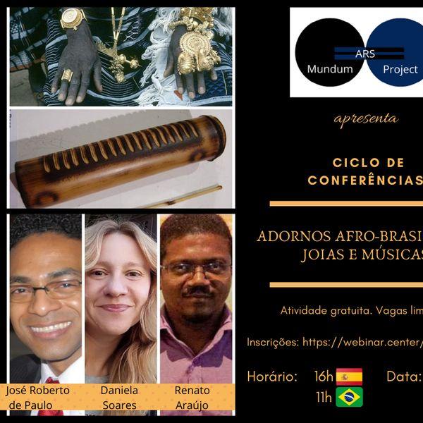 Imagem principal do produto Conferência Adornos Afro-brasileiros: joias e músicas
