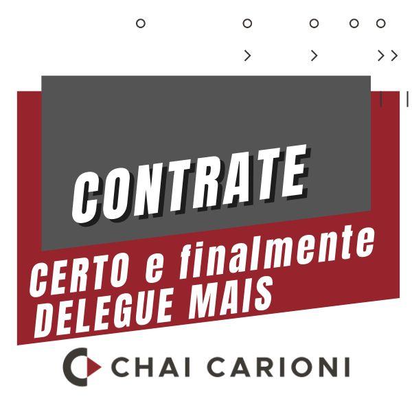Imagem principal do produto CONTRATE CERTO para finalmente DELEGAR MAIS