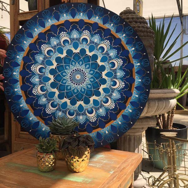 Imagem principal do produto Mandala Floral Geométrico e Floral Degradê