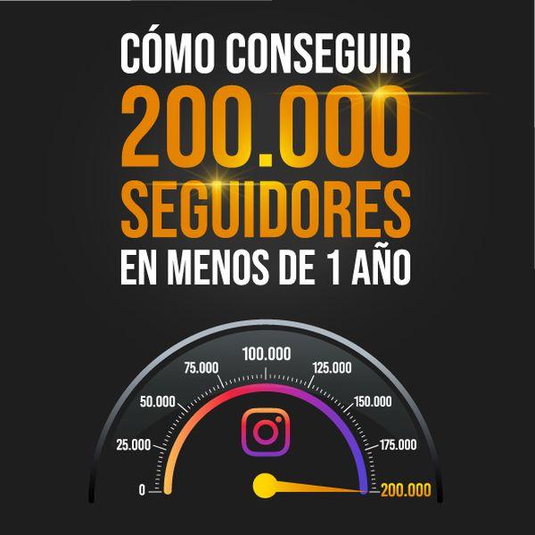 Imagem principal do produto Ebook: Cómo Conseguir 200k Serguidores en Instagram en menos de 1 año.