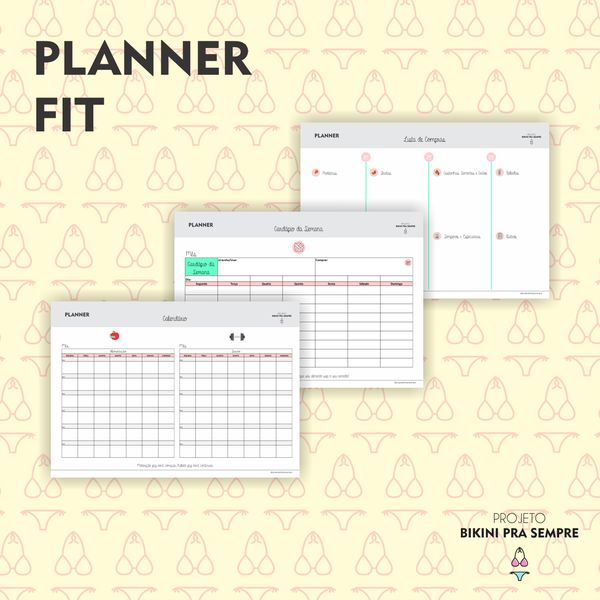 Calendario Fit.Ebooks Planner Fit Learn A New Ability Hotmart
