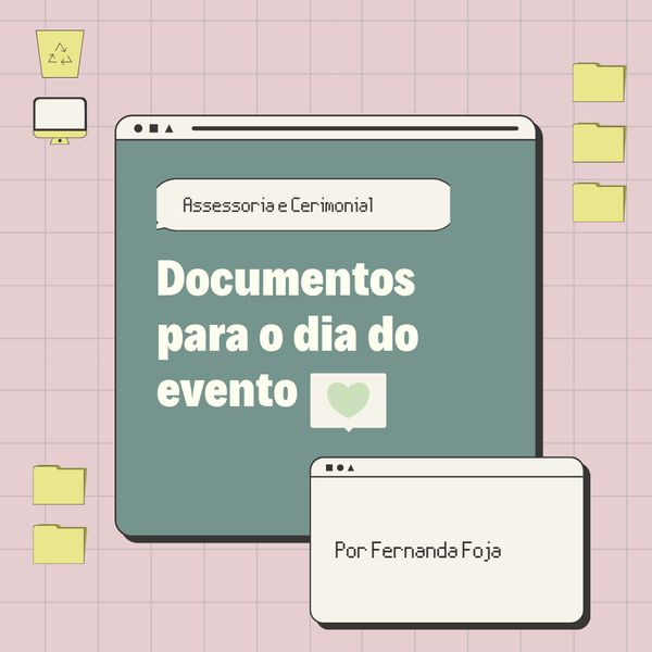 Imagem principal do produto Documentos obrigatórios no dia do evento para assessoras e cerimoniais de casamentos