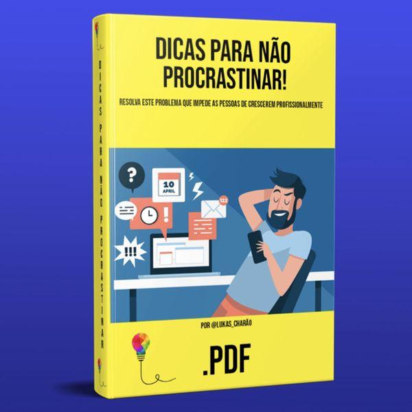 Imagem principal do produto Dicas para não procrastinar