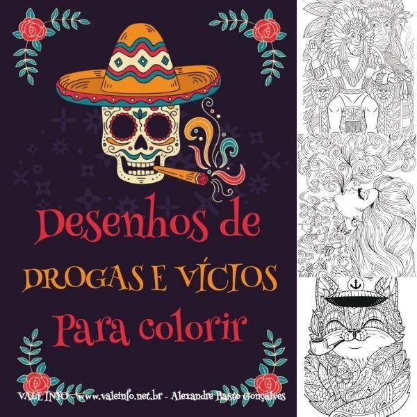 Imagem principal do produto DESENHOS DE DROGAS E VÍCIOS PARA COLORIR