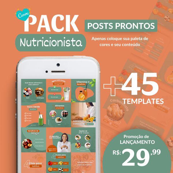 Imagem principal do produto Canva Pack Nutricionista