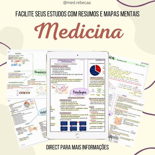 Imagem principal do produto COMBO MAPAS MENTAIS E RESUMOS - BIOQUIMICA, HISTOLOGIA E FISIOLOGIA
