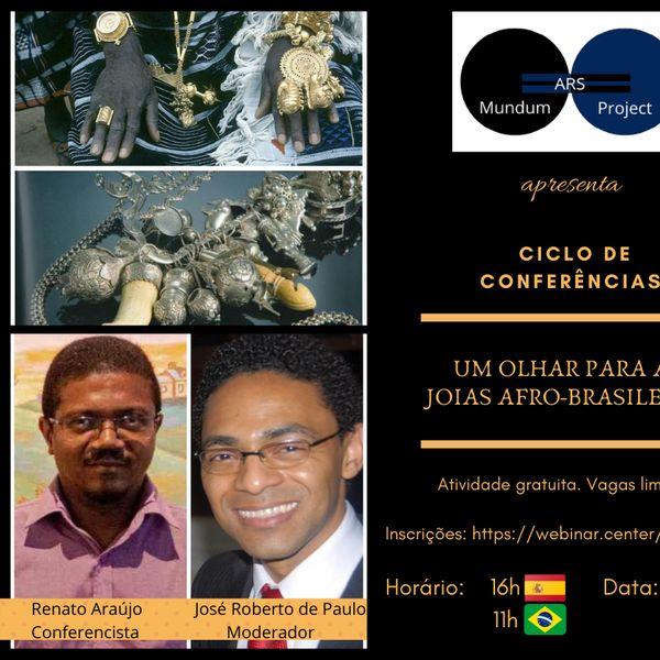 """Imagem principal do produto Ars Mundum Project - Conferência """"Um olhar para as Joias Afro-brasileiras"""""""