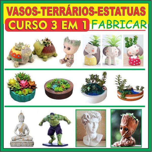 Imagem principal do produto 3 EM 1 FATURANDO COM VASOS TERRÁRIOS ESTATUAS , CURSO DE FORMAS