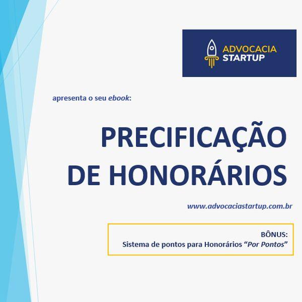 """Imagem principal do produto Ebook """"Precificação de Honorários"""" + Planilha Excel Advocacia Startup Para Precificação de Honorários"""
