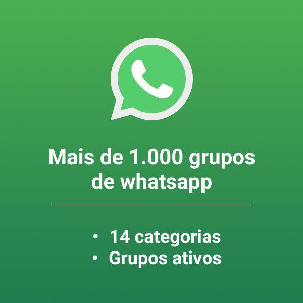 Imagem principal do produto Lista com 1.000 grupos de whatsapp ativos !