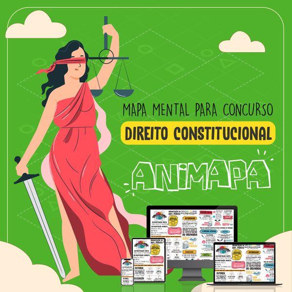 Imagem principal do produto Direito Constitucional para Concurso Público - Mapa Mental Esquematizado