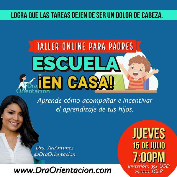 Imagem principal do produto Escuela en casa: Taller Online para Padres