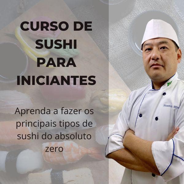 Imagem principal do produto Curso de Sushi para Iniciantes: Aprenda a fazer os principais tipos de sushi do absoluto zero